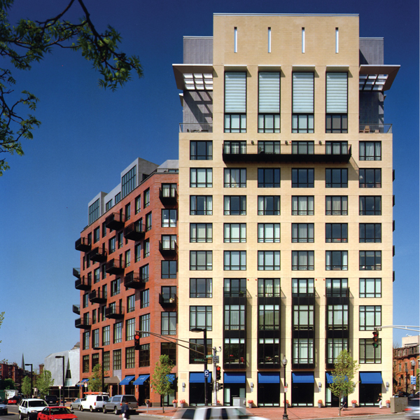 Although contemporary in design, the tower building consists of typical classical components of a strong base, simple middle and a unique top. This tower anchors the southern end of Berkeley Street which extends north to the historic Prudential Tower; a Boston icon, and Back Bay which anchors the northern end of the street.