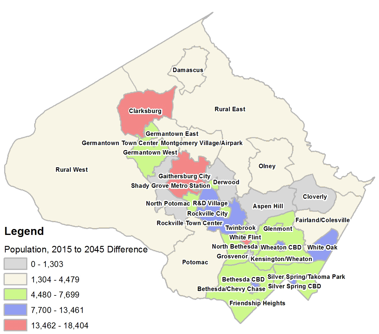 Population Change Round 9.0 - 2015 to 2045