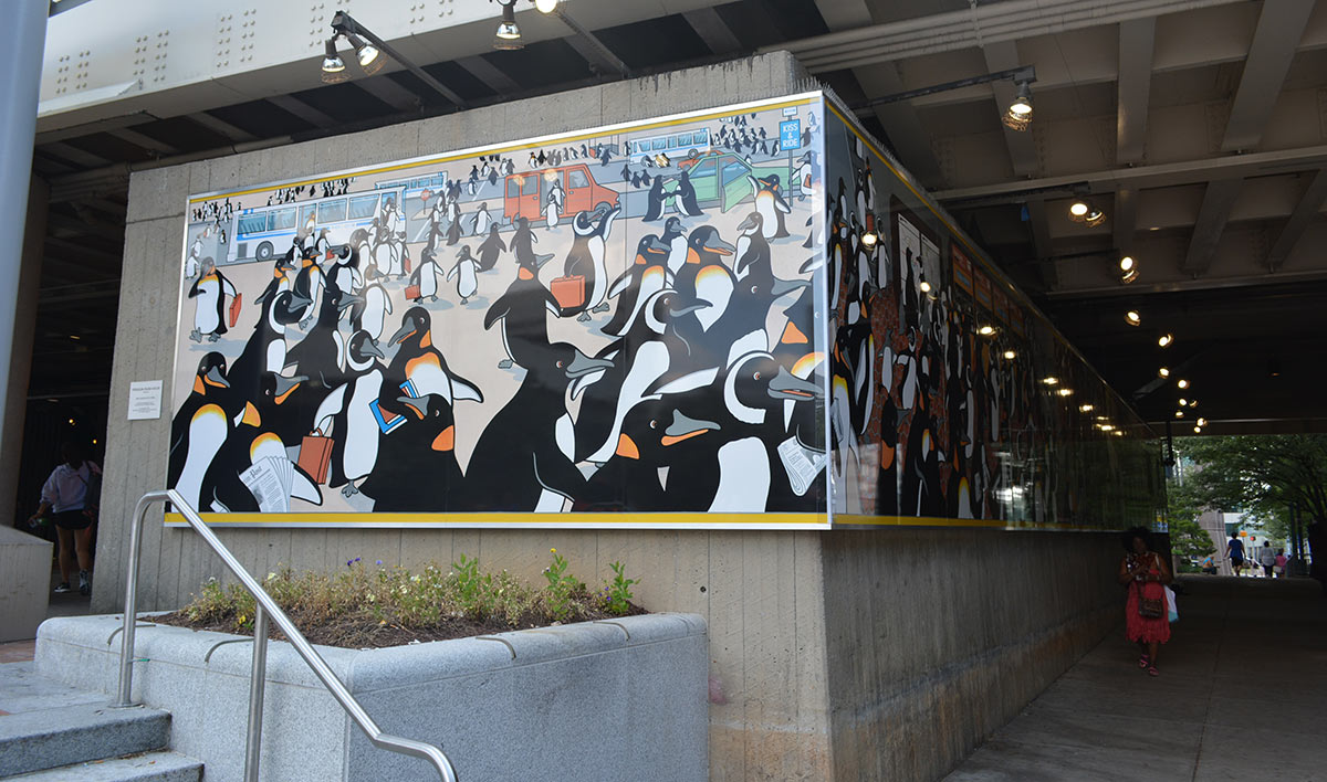 public art - penguins