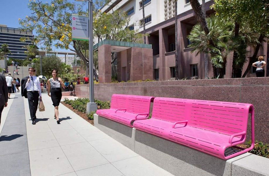 pink-benches