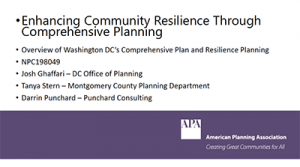 Enhancing Community Resilience Through Comprehensive Planning