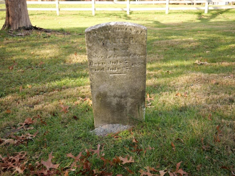 Headstone of infant, Walter