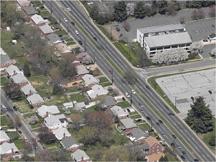 Georgia Avenue Corridor aerial view