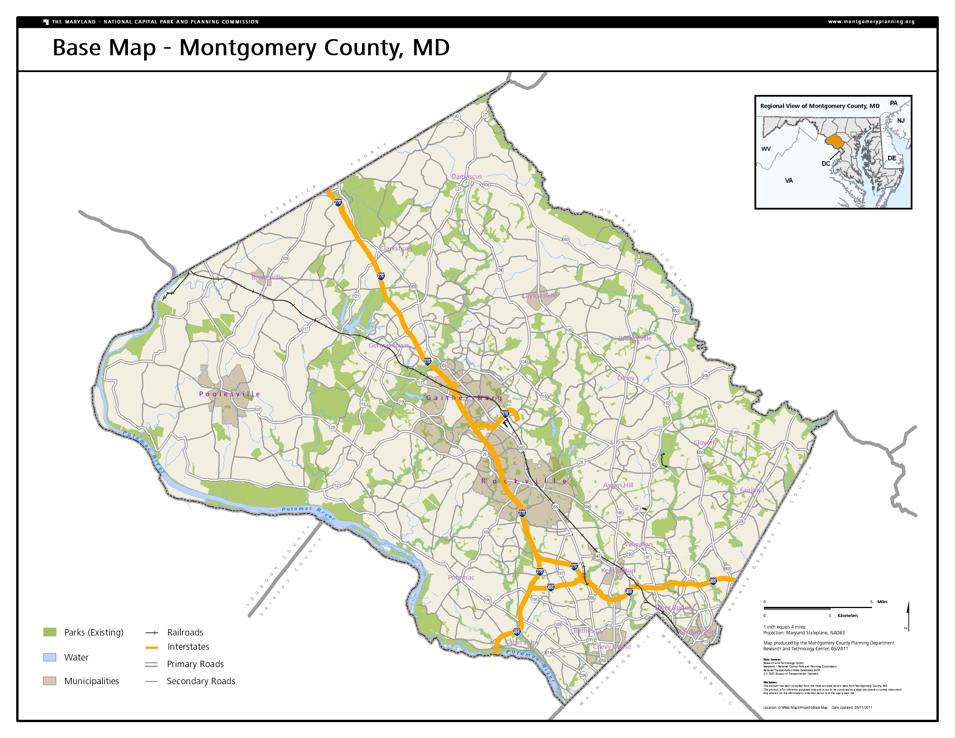 Map Library Montgomery Planning