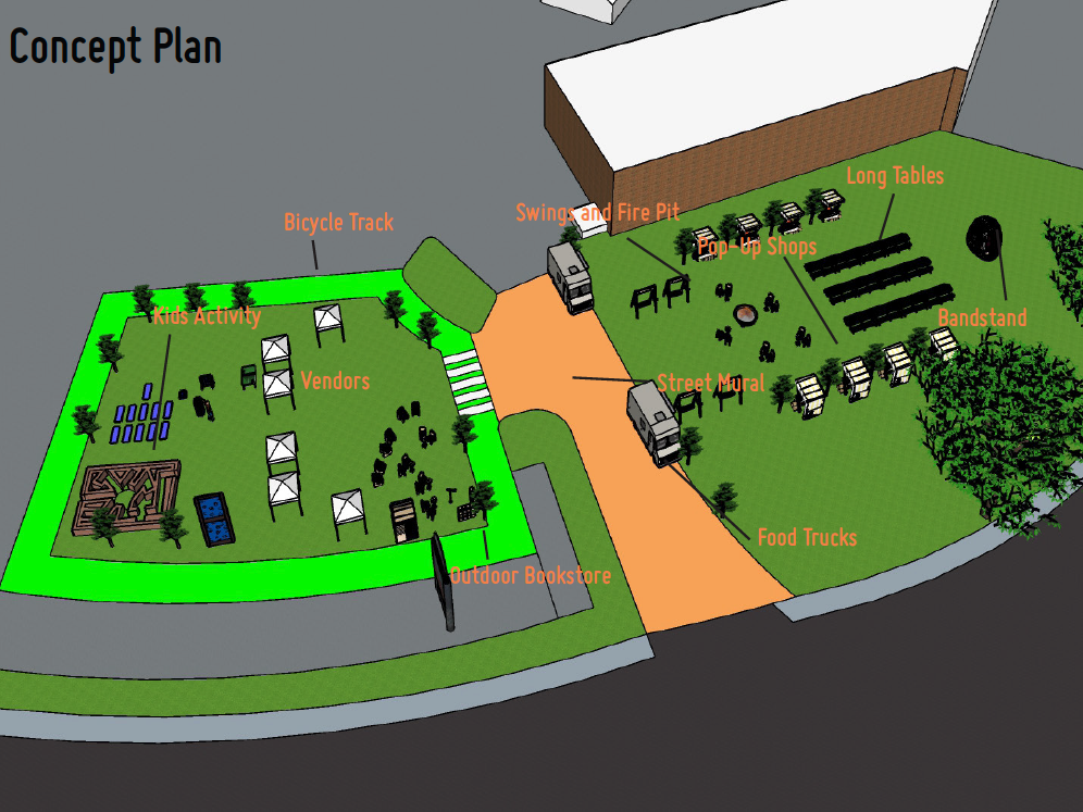 white flint placemaking concept plan