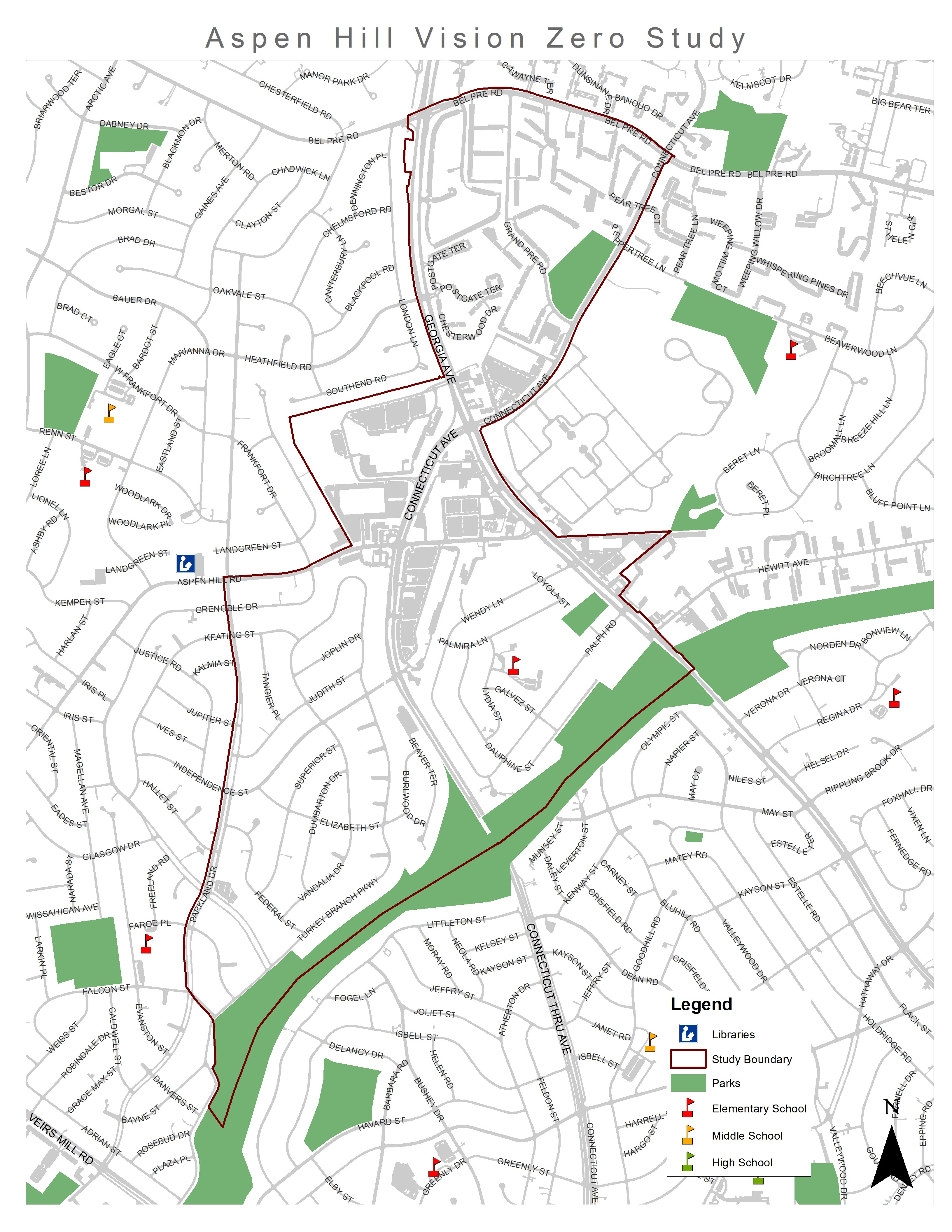 Aspen Hill Vision Zero Scope And Background Montgomery Planning