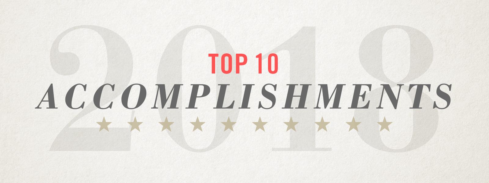 top 10 accomplishments