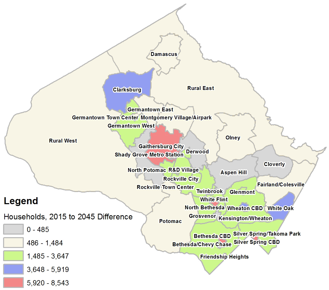 Household Change Round 9.0 - 2015 to 2045