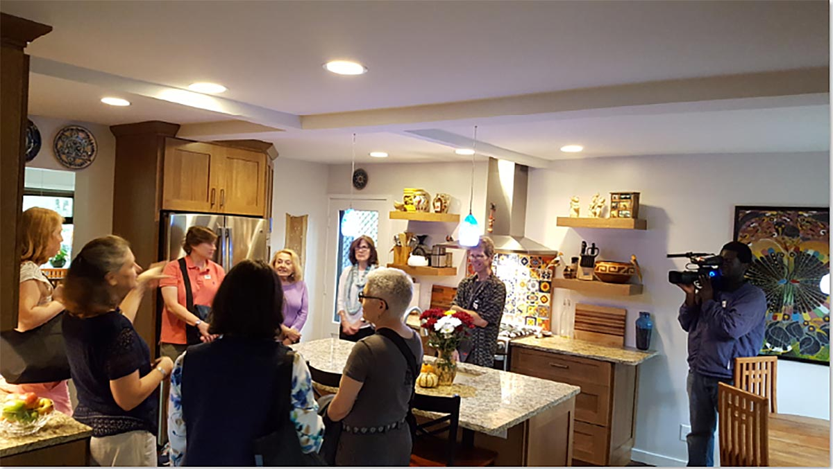 Renovations by the Nooters created an open kitchen with adjoining family room for relaxing.