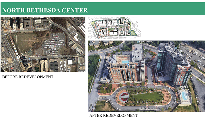 North Bethesda, Before and After Redevelopment