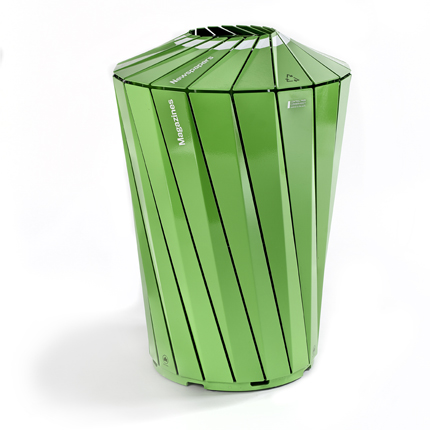 trash can green