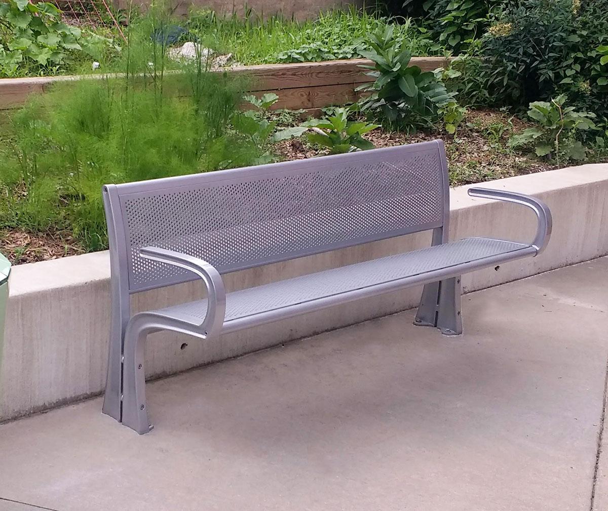 park bench - metal