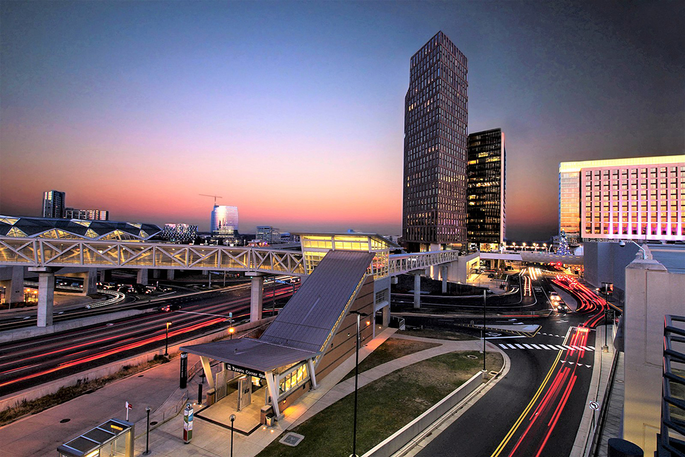 Tysons Corner Sunset, Photo by Joel D. Gray