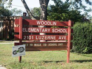 Woodlin Elementary School Sign