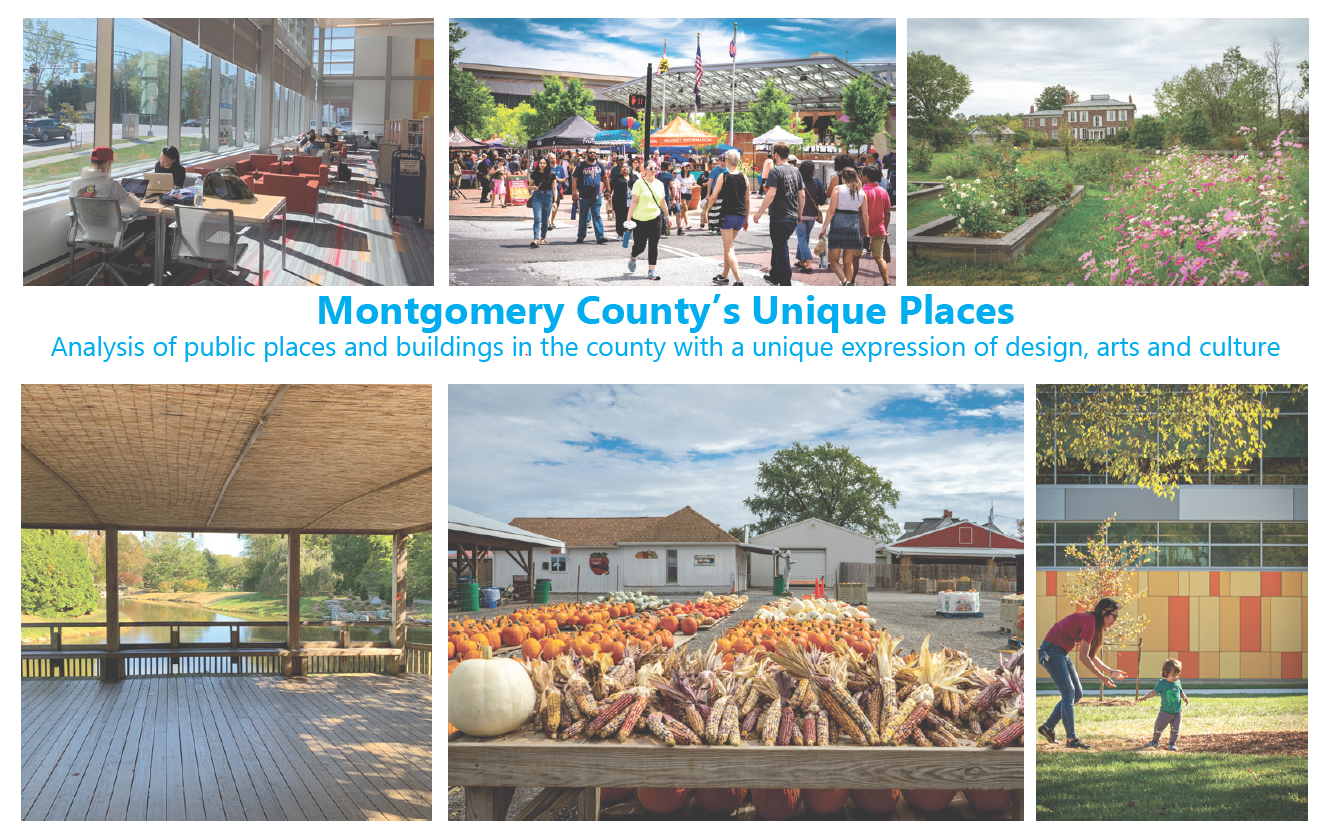 Montgomery County Public Places: Analysis of public places and buildings in the county with a unique expression of design, arts and culture