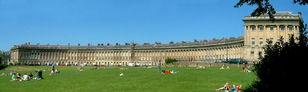 The Royal Crescent's famous facade