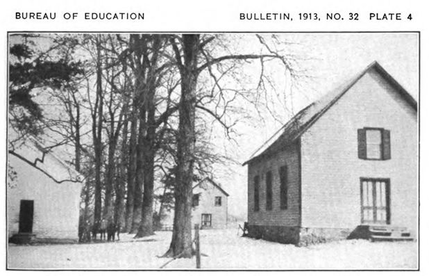 Moses Hall School, Mackall Tabernacle Hall and Mount Pleasant Church in Norbeck, MD ca. 1912