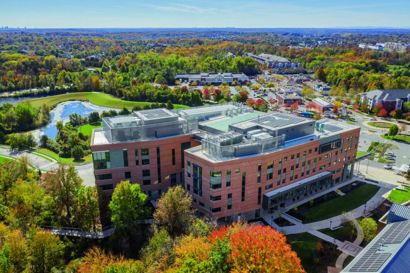 aerial view Universities at Shady Grove Biomedical Sciences & Engineering Building