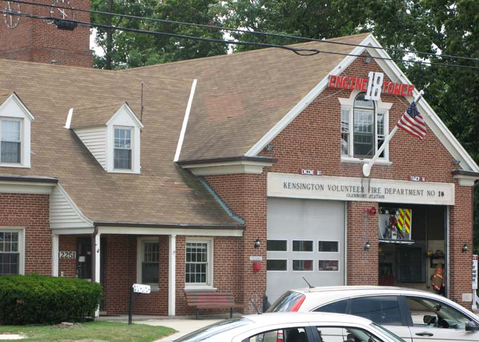 The Kensington Volunteer Fire Station will be relocated across Georgia Avenue to make way for the new intersection.