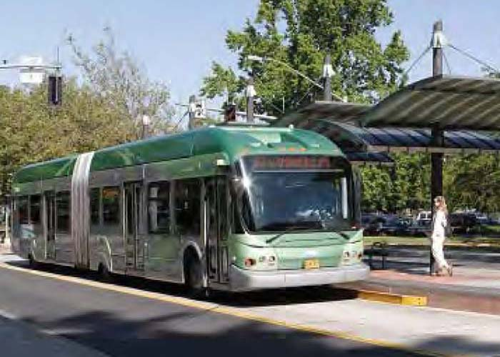 Transportation planners are considering bus rapid transit lines on Georgia Avenue and Randolph Road, both of which would bisect Glenmont.