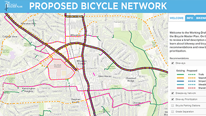 Proposed Bicycle Network Map