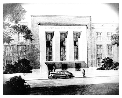 Architect's Rendering, early 1940s, possibly by Otto Eggers of Eggers and Higgins. Source: GSA.