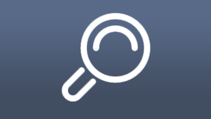 graphic magnifying glass search icon