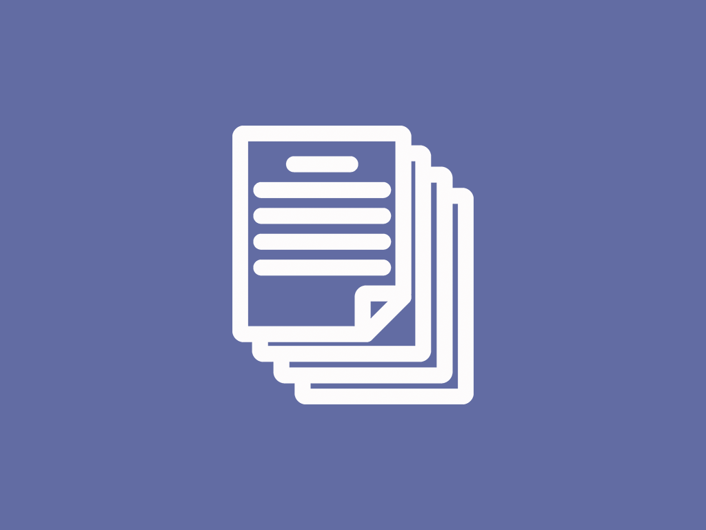 Icon graphic of document pages