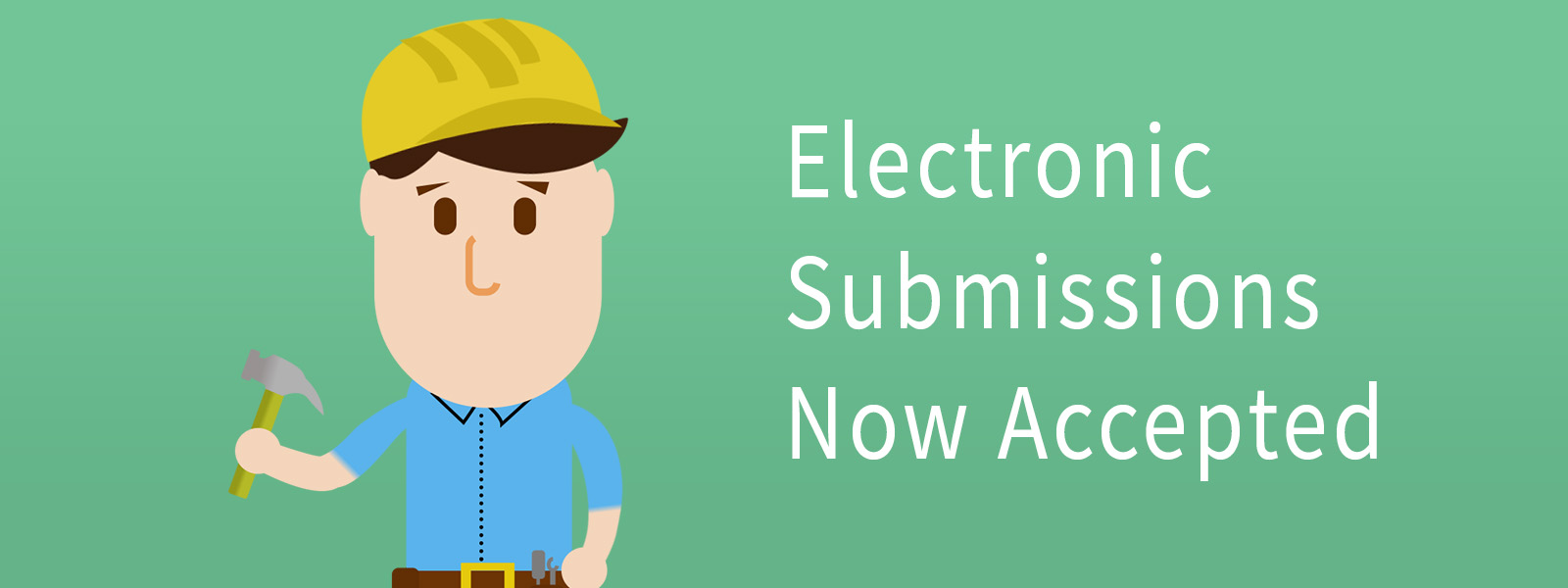 Electronic Submissions now accepted