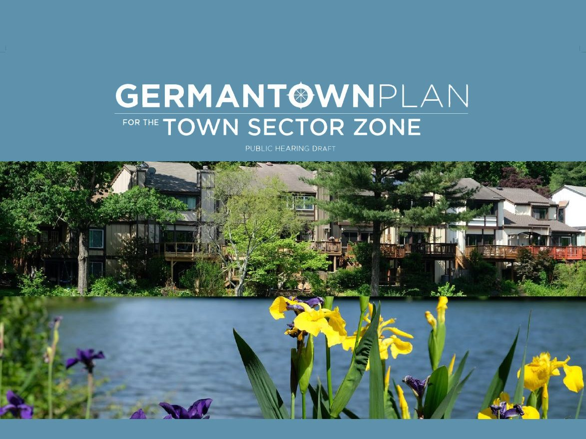 Cover of Germantown Plan for the Town Sector Zone Public Hearing Draft