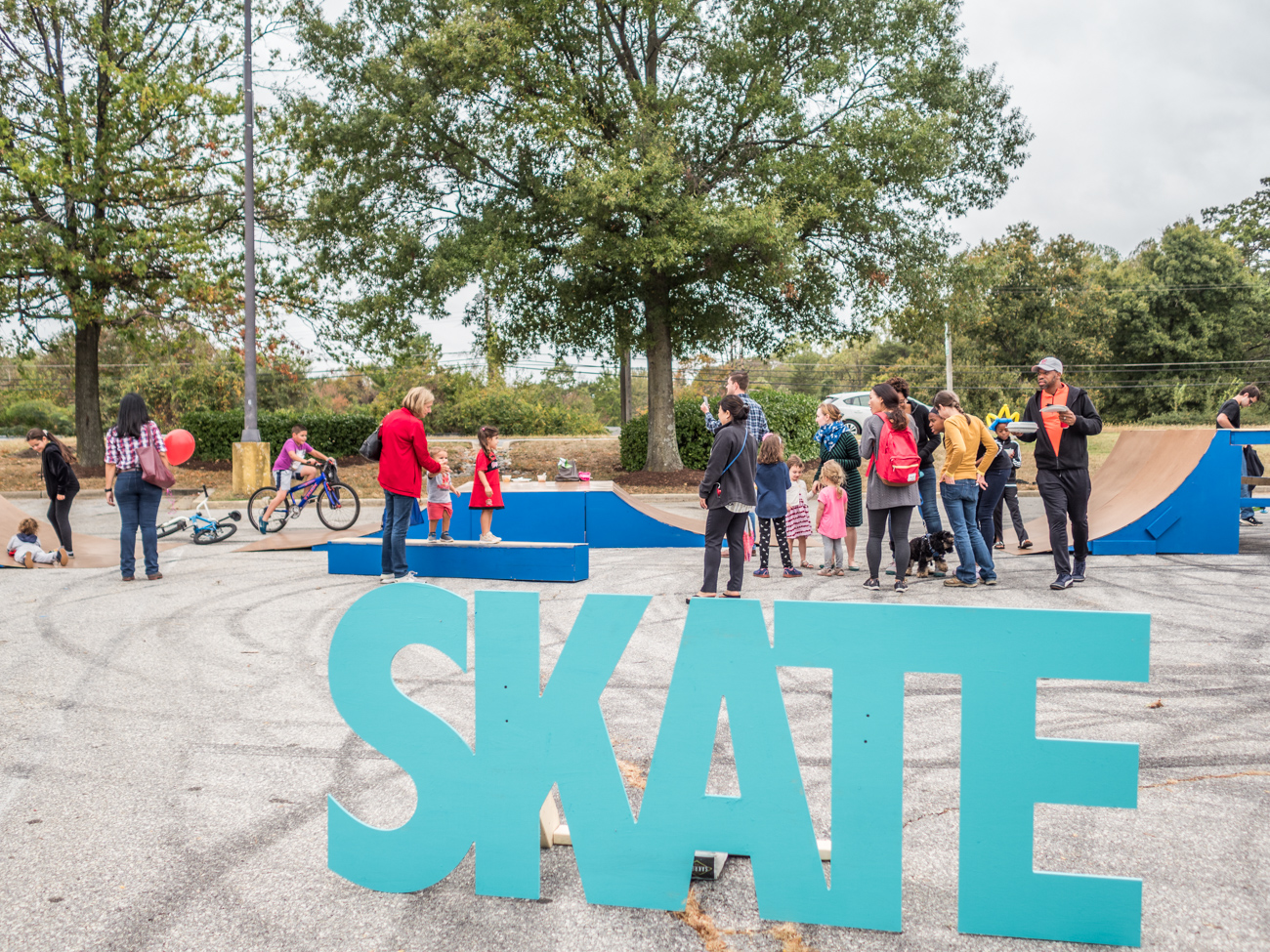 Skate area at Burtonsville Placemaking Festival