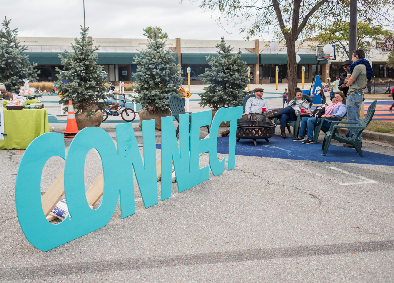 Connect area at Burtonsville Placemaking Festival