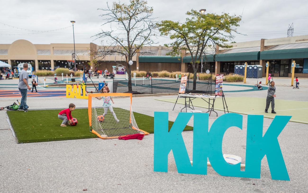 """Kick"" soccer area at Burtonsville Placemaking Festival"