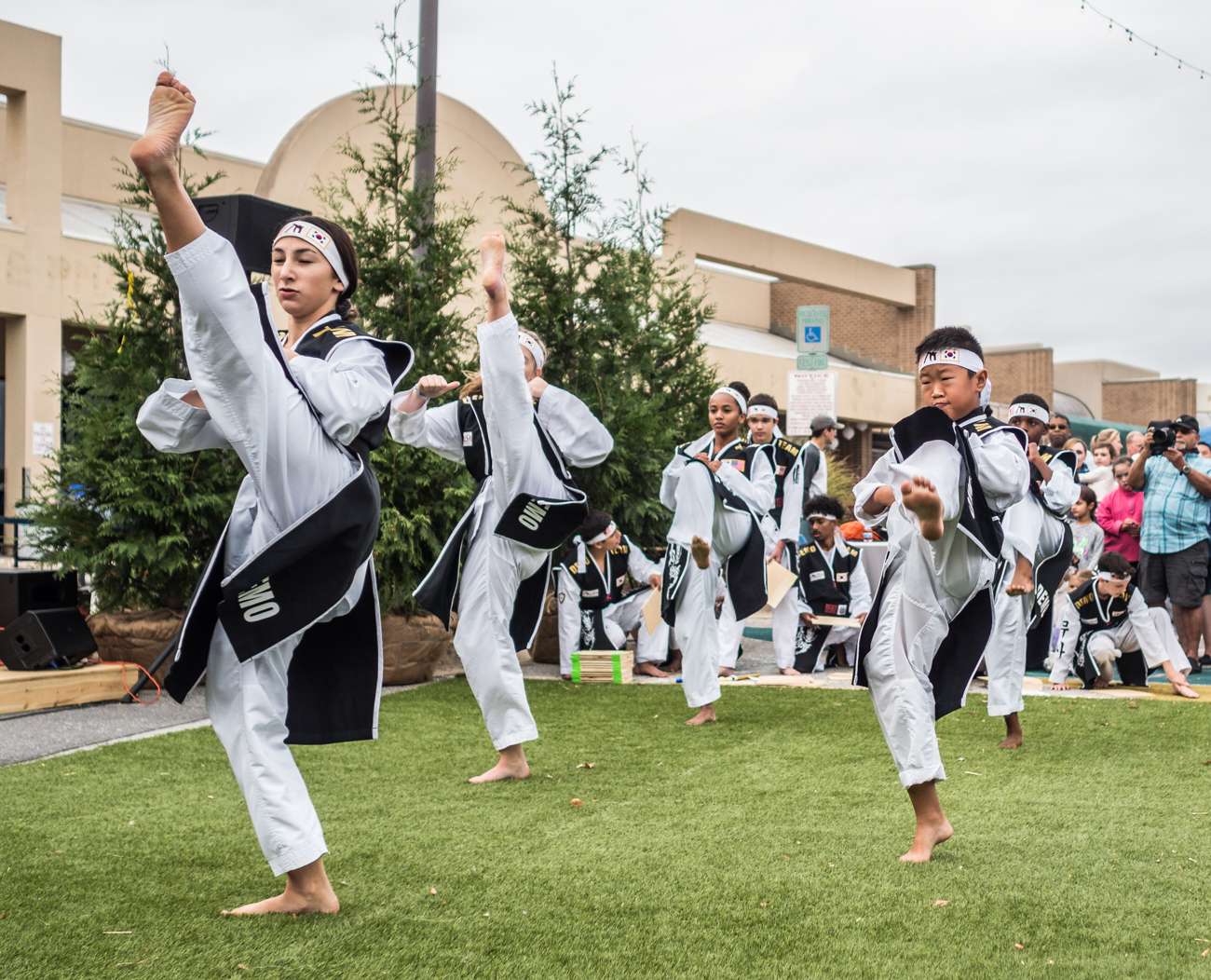 Martial arts demonstration at Burtonsville Placemaking Festival