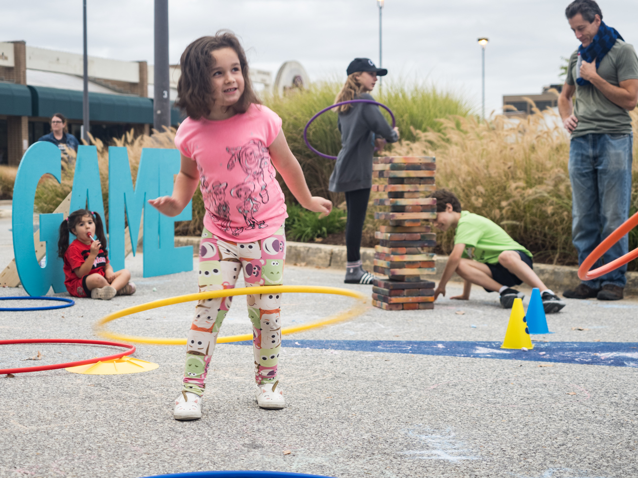 Children playing in Games area at Burtonsville Placemaking Festival