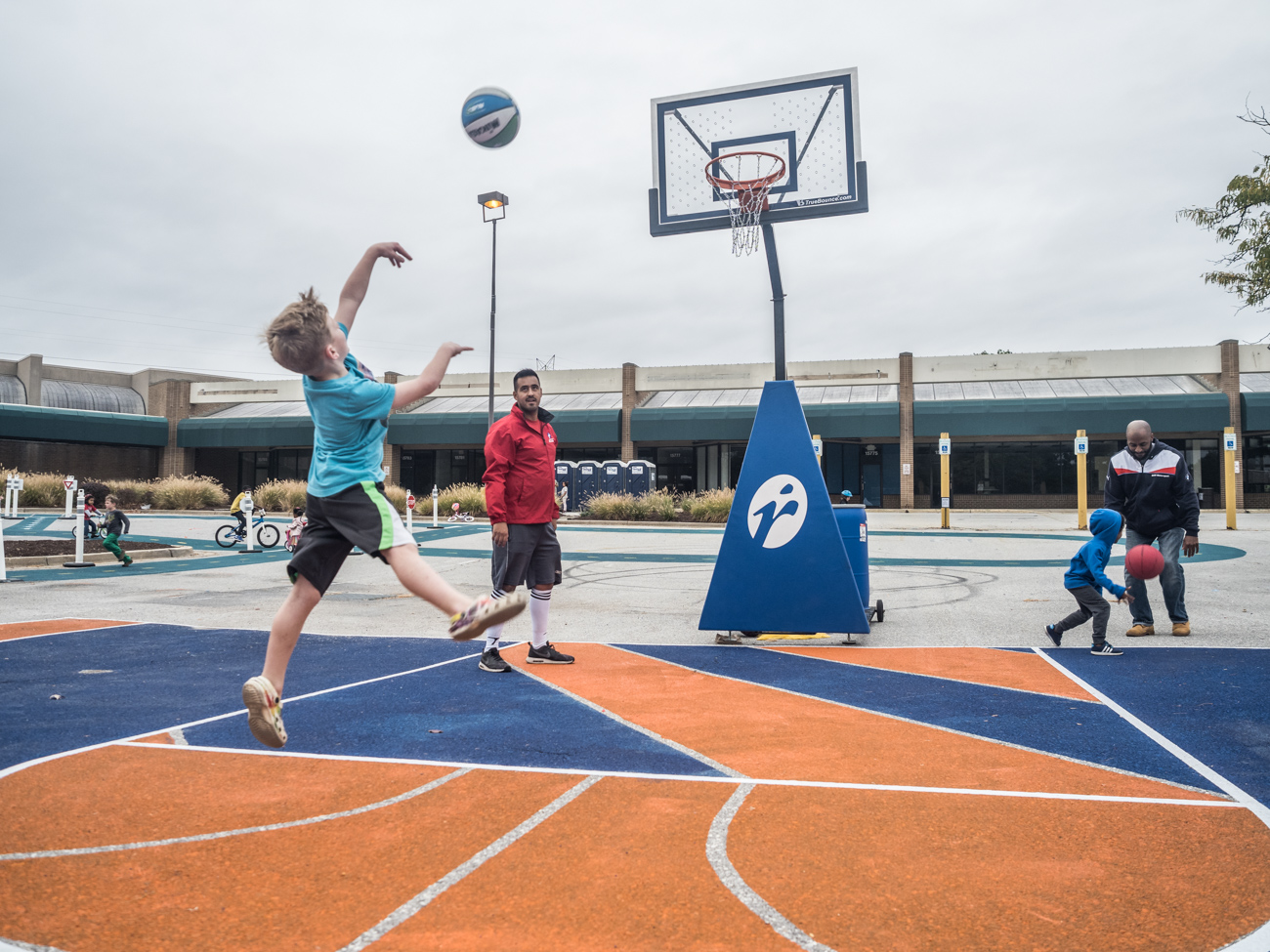 Basketball at Burtonsville Placemaking Festival