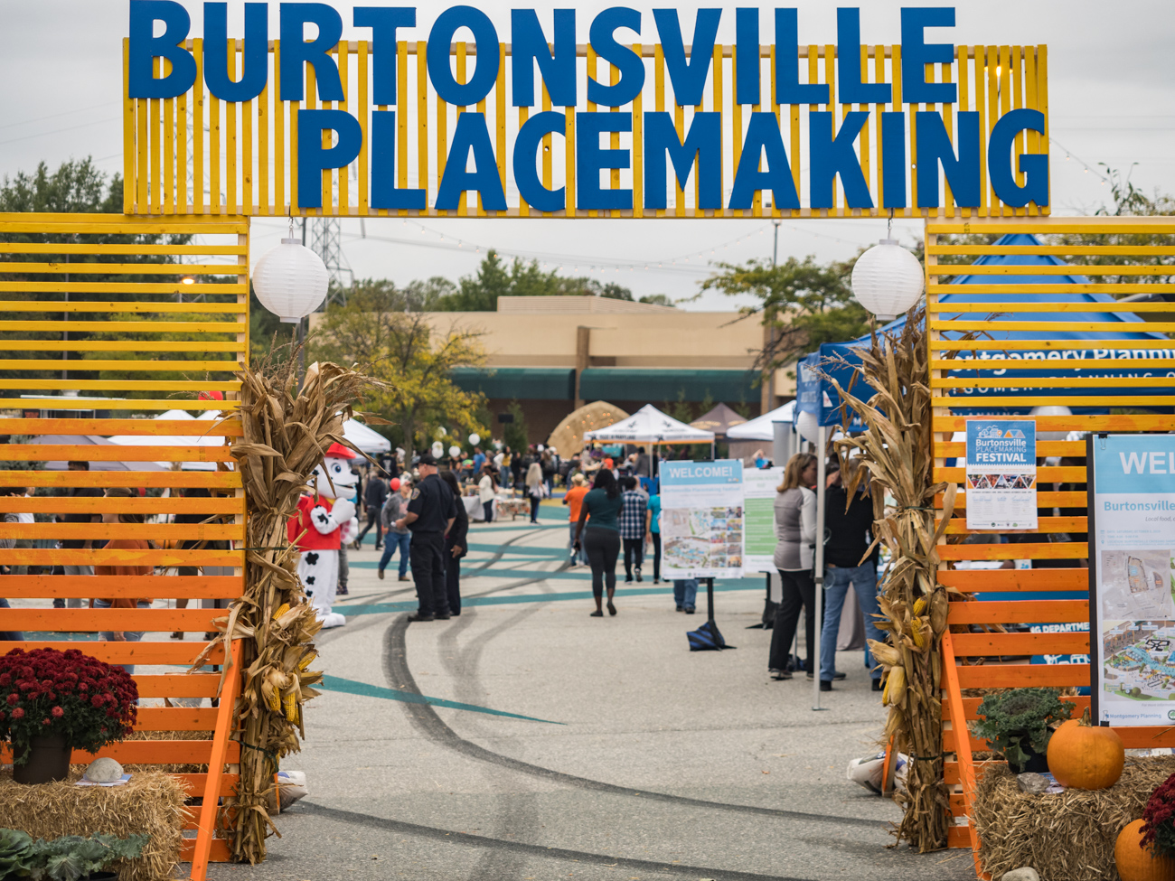 Burtonsville Placemaking Festival entrance