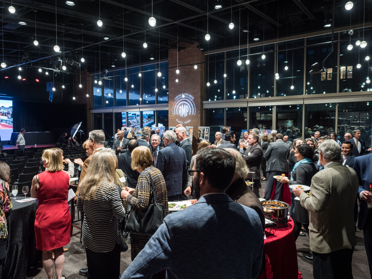 Crowd mingling at 2019 Design Excellence Awards