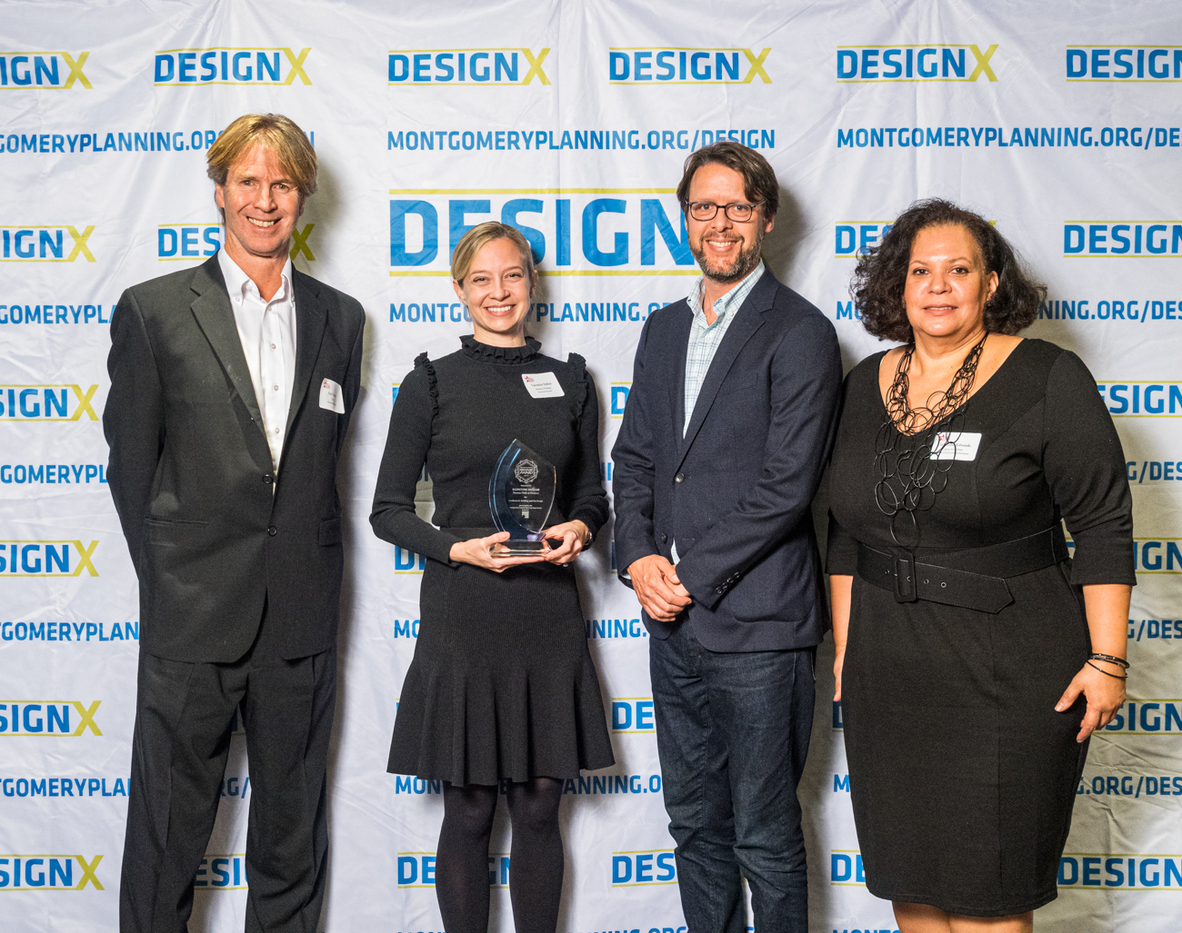 2019 Design Excellence Award winners with Montgomery County Councilmember Hans Riemer