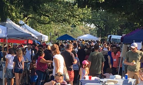 Montgomery Hills street festival -- crowds of people among tents