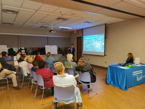 Communtiy members attend presentation by Montgomery Planning staff at Olney Library