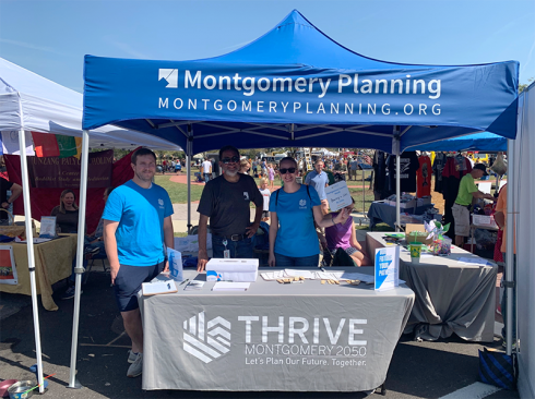 Montgomery Planning staff at Poolesville Day Festival
