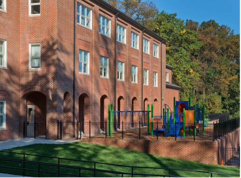 Westbrook school and playground