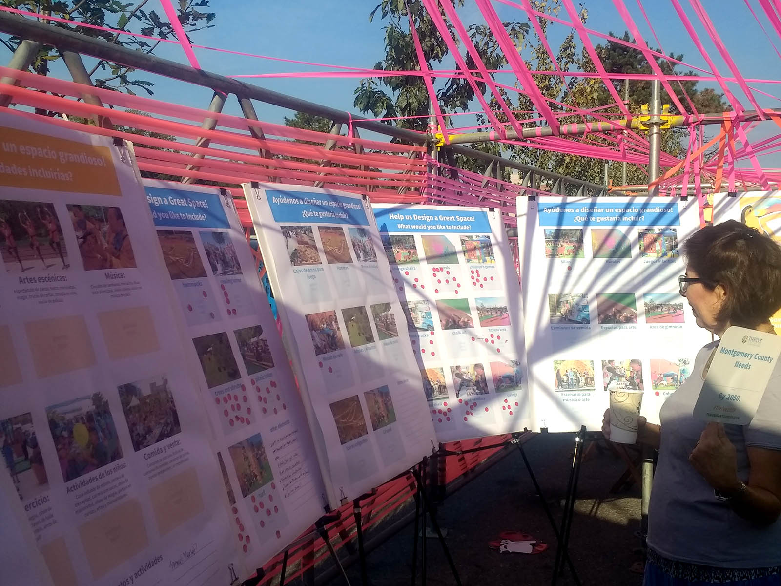 Woman looking at exhibit during Long Branch Festival Week