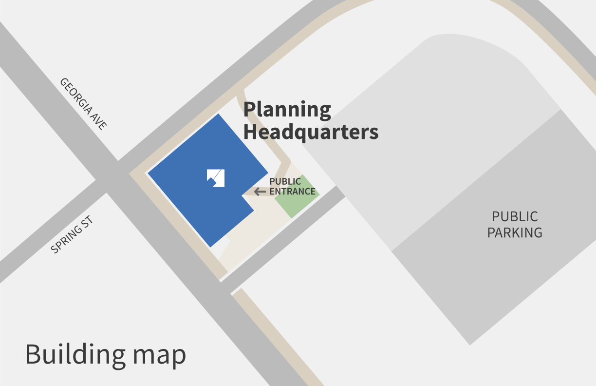 Planning headquarters entrance map