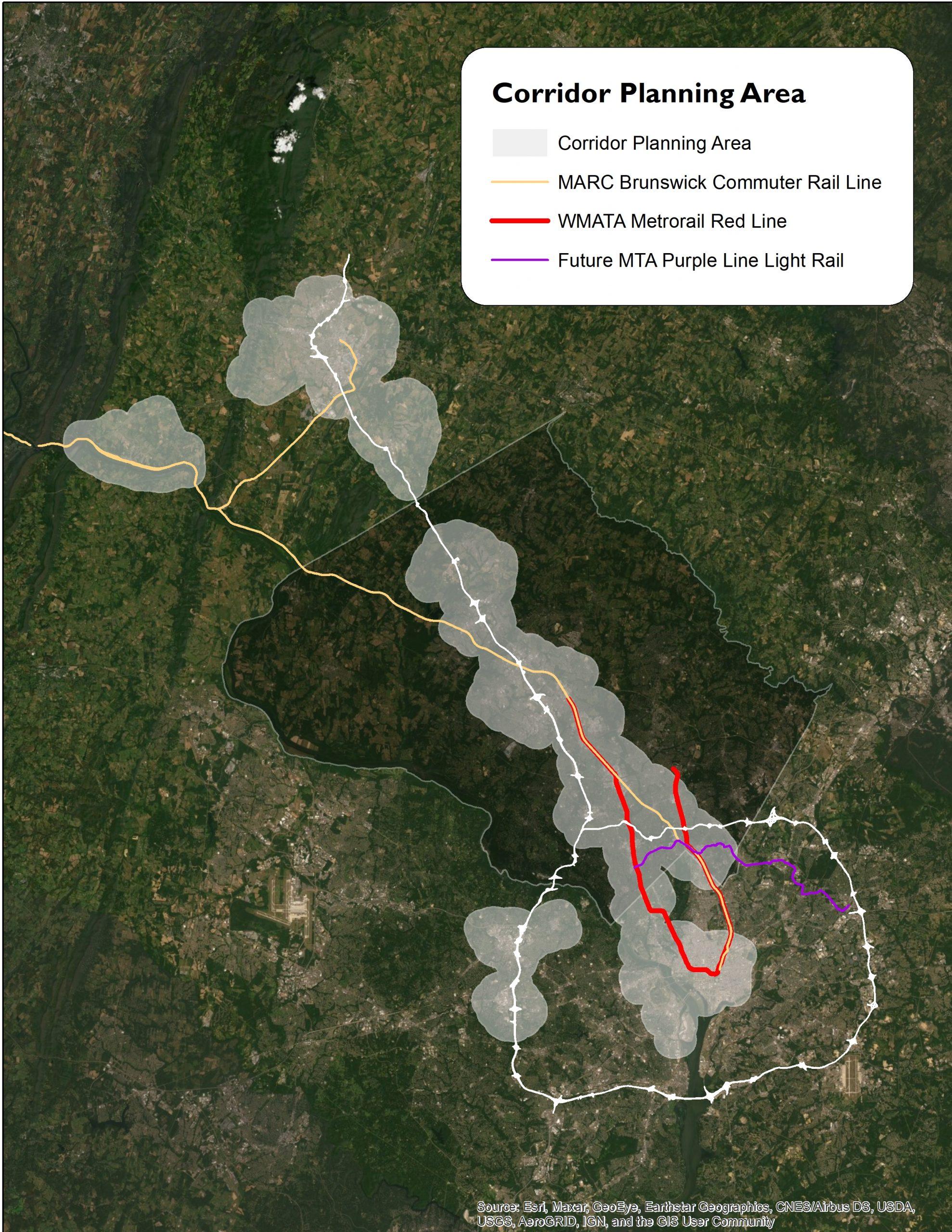 I270 Corridor Planning area map