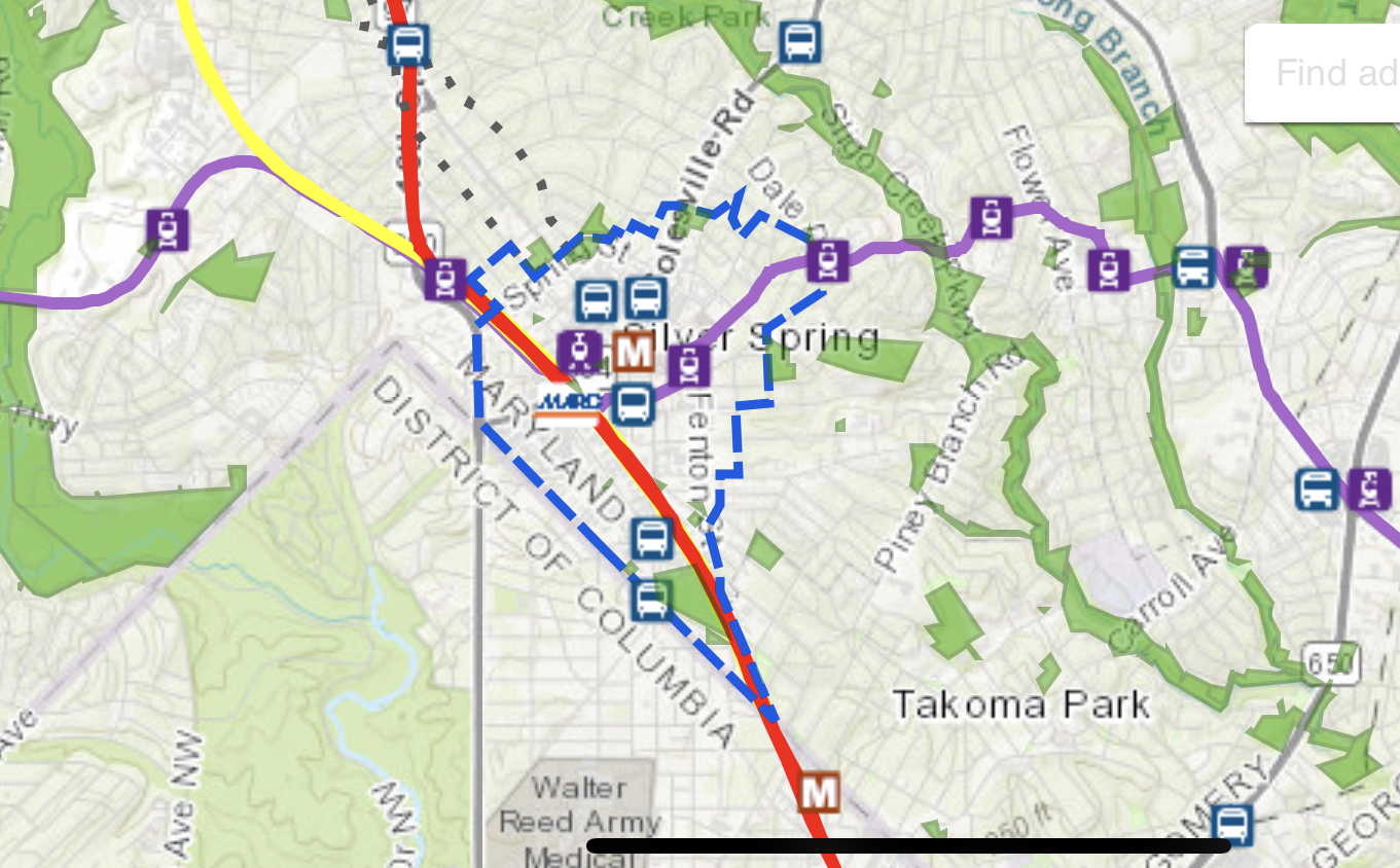 Thumbnail: Silver Spring Downtown and Adjacent Communities Plan Boundary Map