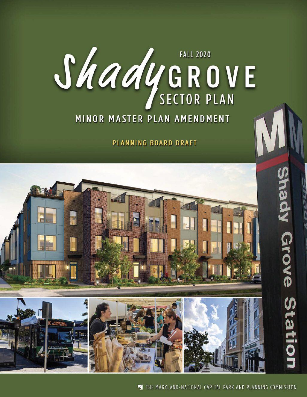 Shady Grove Minor Master Plan Planning Board Draft cover